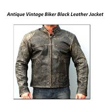 mens leather moto jacket men u0027s antique black vintage distressed retro motorcycle biker