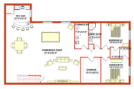 2 Bedroom House Plans With Basement 2 Bedroom Basement Floor Plans Basement Ideas