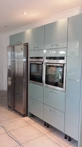 Acrylic Finish Kitchen Cabinets Astral Blue Acrylic Doors To Give A Semi Gloss Finish With Tall