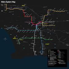 La Metro Train Map by Metro Rail Los Angeles Metro Map United States