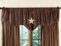 starlight trails chocolate star valance from lone star western