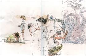 drawing people in motion in barcelona urban sketchers