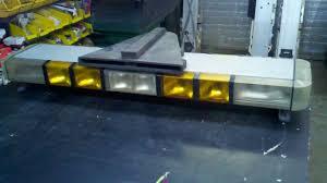 snow plow strobe lights whelen 46 4 strobe 12 halogen light bar siren snowplow youtube