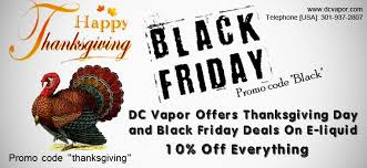 dc vapor offers thanksgiving day and black friday deals on e