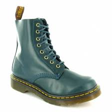 womens boots peacocks dr martens pascal womens leather 8 eyelet ankle boots peacock