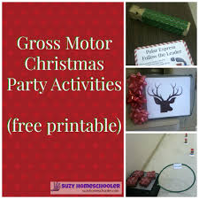 gross motor christmas activities for parties or homeschool group