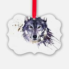 wolf ornament cafepress