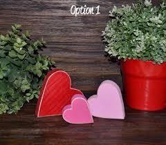 Primitive Holiday Decor Valentine U0027s Day Decor Personalized Wood Heart Block Love