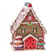 gisela graham light up gingerbread house ornament