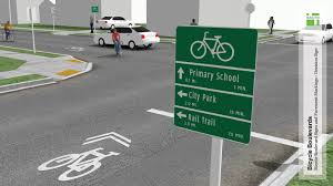 bicycle boulevard signs and pavement markings national