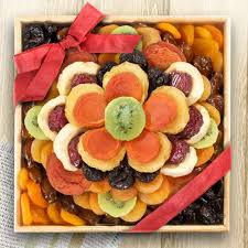 fruits and blooms basket sweet bloom dried fruit deluxe basket aa6053 a gift inside