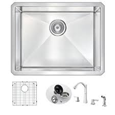 pause function pull down faucets kitchen faucets the home depot vanguard undermount stainless steel 23 in single basin kitchen sink and
