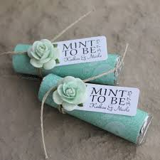 mint to be wedding favors mint wedding favors set of 24 mint rolls mint to be favors