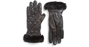 ugg gloves sale house of fraser ugg australia black multi quilted water resistant tech gloves black product 0 121505760 normal jpeg