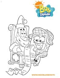 spongebob and his christmas wish list coloring pages hellokids com