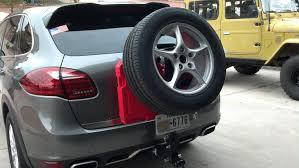 porsche cayenne tire size spare tire carrier 6speedonline porsche forum and luxury car