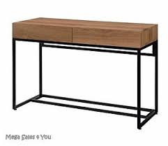 industrial console table with drawers industrial large desk steel legs console table 2 drawers pc