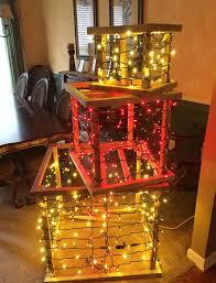 christmas present light boxes wood frame diy lighted christmas present lights diy light and