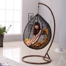 Kids Black Armchair Japanese Zen Like Black Rattan Indoor Hanging Chair Interieur