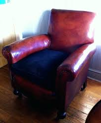 Feather Seat Cushions French Leather Armchair Early Century French Brown Leather Club