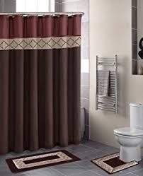 designer bathroom sets amazon com carnation home fashions 5 plastic bath accessory
