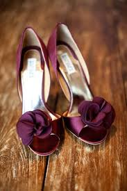 burgundy wedding shoes wedding shoes the color of the bridesmaid s dresses add a