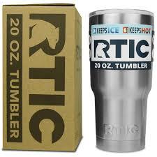 amazon com rtic 20 oz stainless steel tumbler tumblers