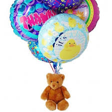 mylar balloon bouquet balloon bouquet 6 mylar teddy birthday