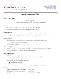 resumes for nurses resume templates