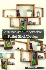 artistic and graceful pallet shelf design 99 pallets