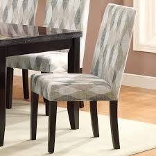 Patterned Dining Chairs India Geometric Fabric Dining Chairs Set Of 2 Contemporary