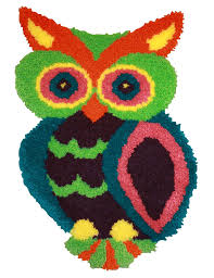 mcg textiles 37723 owl shaped latch hook rug kit 18 5