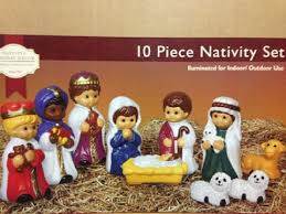 10 piece blow mold nativity set children by general foam christmas