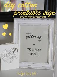 anniversary gift diy cotton printable sign