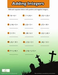 adding negative numbers worksheet education com