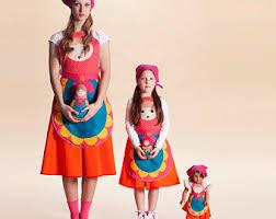 Halloween Folklore Costume Russian Doll Costume Girls Dress