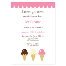 ice cream party invitations party invitations templates