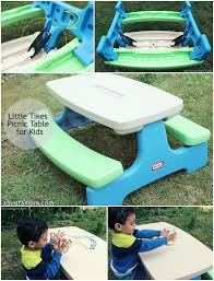 little tikes easy store picnic table little tikes picnic table for kids about a mom