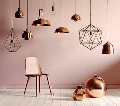 interior update rose gold in contemporary house designs