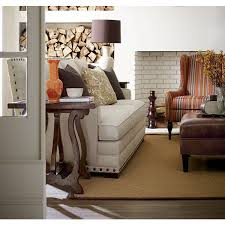 Austin Modern Furniture Stores by With A Hardwood Frame Textured Latte Fabric Antique Brass Nail