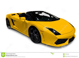 yellow lamborghini yellow lamborghini roadster with clipping path stock photo image