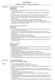 big data hadoop resume big data analyst resume samples velvet jobs