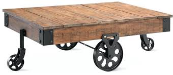 Caster Coffee Table Decoration Coffee Tables On Casters Rustic Weathered Charcoal