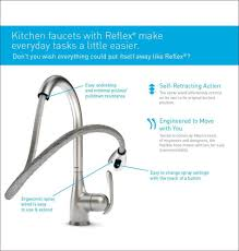 white moen touchless kitchen faucet deck mount single handle pull