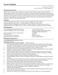Health Information Management Resume Examples by Carrie R Hatfield Resume 04 20 2016