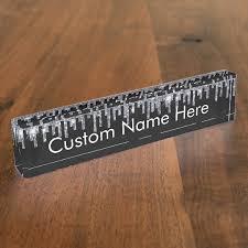 Custom Desk Name Plates by Personalized Faux Crystal Rhinestone Blink Desk Desk Name Plate