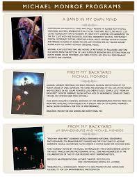 concerts performing arts special events michael monroe michael