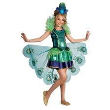 Halloween Costumes For Kids Girls Peacock Child Costume Small 4 6 Walmart Com