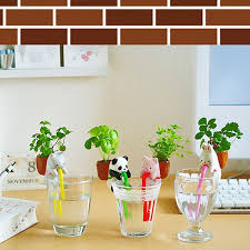 plants for office desk mini auto water absorption animal potted plants office desktop plant