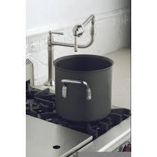kohler faucet k 7323 4 s hirise polished stainless steel pot